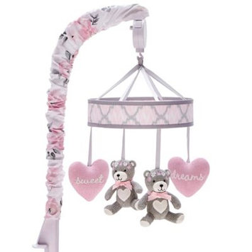 Wendy Bellissimo tm Wendy Bellissimo(TM) Savannah Pink and Grey Musical Mobile