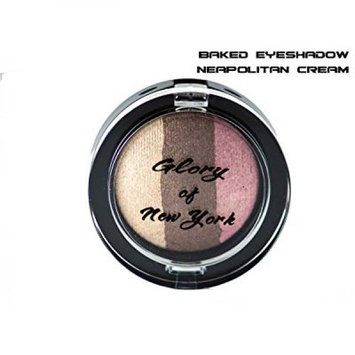 Glory Of New York Natural Baked Eyeshadow Trio (3 in 1) Paraben Free/Mineral Based Eye Shadow GNY, 0.07 Ounces, MADE IN USA (Neapolitan Cream)