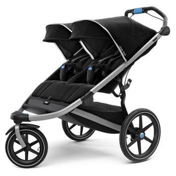 Infant Thule Urban Glide 2 Double Jogging Stroller, Size One Size - Black