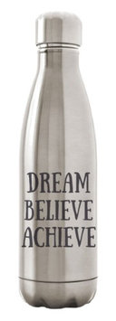 Custom Apparel R Us Stainless Steel Water Bottle Double Wall Insulated 17 oz Dream Believe Achieve