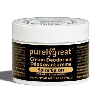 Purelygreat Natural Deodorant for Men Spice - EWG Verified - Vegan, Cruelty Free - No Aluminum, No Parabens, BPA Free - Essential Oils