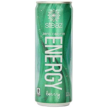 Steaz Energy Drink, Zero, Berry, 12 OZ (Pack of 4)
