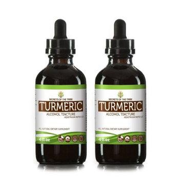 Secrets Of The Tribe Turmeric Tincture Alcohol Extract, Organic Turmeric (Curcuma Longa) Dried Root 2x4 oz