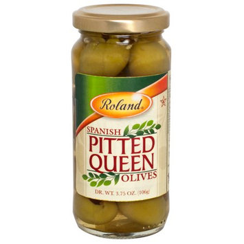 Roland Spanish Pitted Queen Olives, 8.5 Oz (Pack of 12)