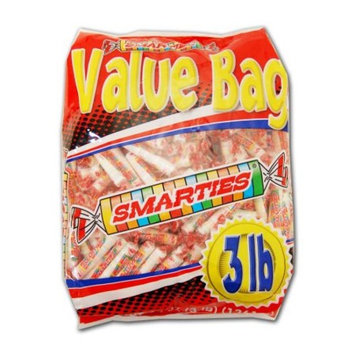 Smarties Assorted Flavor Candy Rolls 3 Pound Value Bag 180 Pieces Per Bag