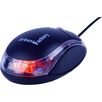 Urban Factory BDM02UF CRISTAL MOUSE BLACK MINI ACCSUSB