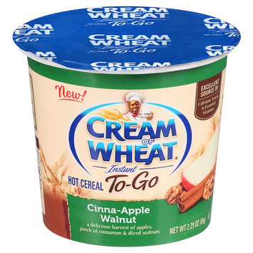 B & g Foods Cream Of Wheat Cinnamon Apple Walnut Instant Hot Cereal - 2.29 oz