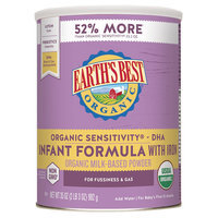Earth's Best Organic Sensitivity Infant Formula with DHA & ARA - 35 Ounce