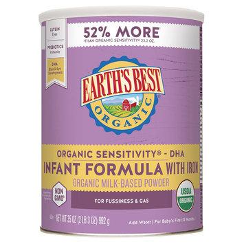 Earth's Best Organic Sensitivity Infant Formula with DHA & ARA - 35 Ounce
