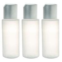JUVITUS Disc Cap Travel Refillable Bottles - 2 oz (3 Pack)
