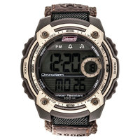 Men's Coleman 10 Digit LCD Alarm Chronograph Multi - Function Watch - Brown
