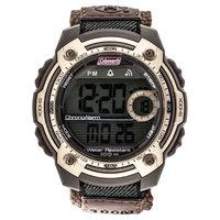 Men's Coleman 10 Digit LCD Alarm Chronograph Multi - Function Watch - Brown