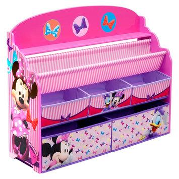 Deluxe Book & Toy Organizer Disney Minnie Mouse - Delta Children, Multi-Colored