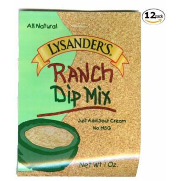 Lysander's Ranch Dip Mix-12 Pack