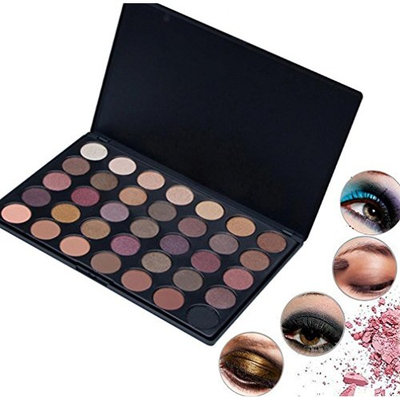 Natural Eye Shadow Make Up Light Eyeshadow Cosmetics With Brush Eye Makeup Palette Saingace