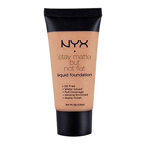 1 NYX SMF18 MEDIUM MOYEN - STAY MATTE BUT NOT FLAT LIQUID FOUNDATION + FREE EARRING