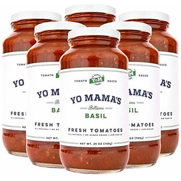Gourmet Tomato Basil Pasta Sauce Multi Pack | (6) 25 oz Jars – No Sugar Added, Gluten Free, Preservative Free, Keto and Paleo Friendly, and Made with Whole, Non-GMO Tomatoes!