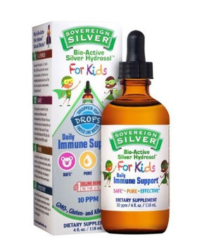 Bio-Active Silver for Kids Sovereign Silver Natural Immunogenics 4 oz Dropper