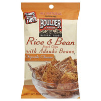 Boulder Chipotle Cheese Rice and Bean Chips with Adzuki Bean 5 oz 12 pk