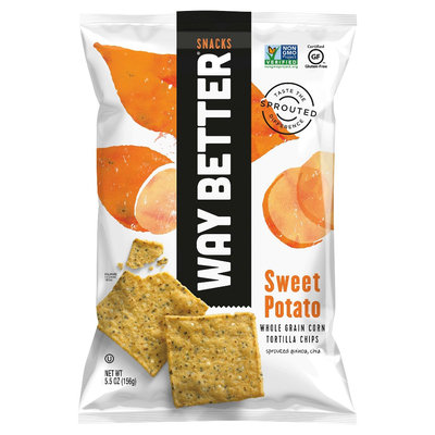 Way Better Snacks Sweet Potato Tortilla Chips - 5.5 oz (Pack of 12)