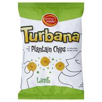 Turbana Lime Plantain Chips 7 oz 12 pk