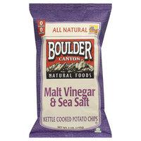 Boulder Malt Vinegar & Sea Salt Kettle Cooked Potato Chips - 5 oz (Pack of 12)