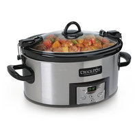 Crock-Pot 6-Quart Programmable Cook & Carry Slow Cooker- Silver, SCCPVL610-S-A