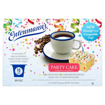 Entenmann's Party Cake Single Serve Coffee, .35 oz, 10 count