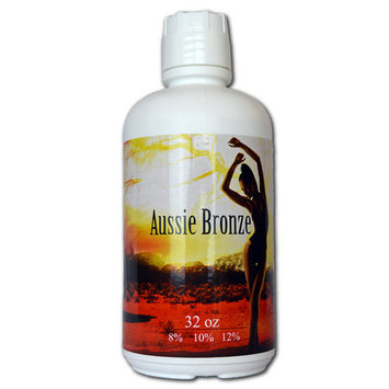 Aussie Bronze 8% (Med) Organic and Natural Blend Spray Tan Solution - 64 oz - Free Ship