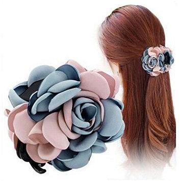 Cute Women's Elegant Flower Hair Claw Jaw Clips Handmade Pure Flowers Plastic Claw Jaw Hair Clip