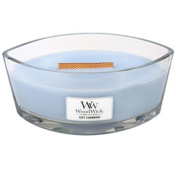 Woodwick Hearthwick Flame 16 Oz. Candle - Soft Chambray