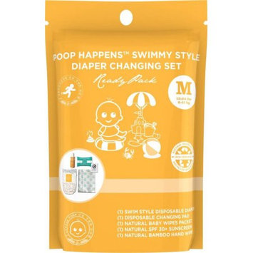 Products on the Go POTG1101 Poop Happens Swimmy Style One Complete Diaper Change Set & Sun Care Medium