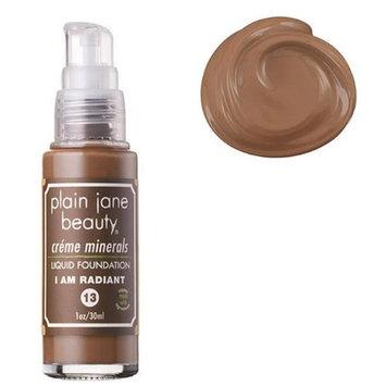 Plain Jane Beauty 232017 I Am Radiant 13 Creme Minerals Liquid Foundation