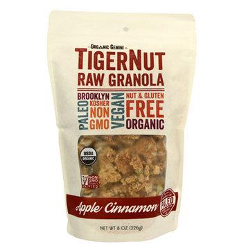 Organic Gemini Apple Cinnamon TigerNut Raw Granola 8 oz Bags - Single Pack