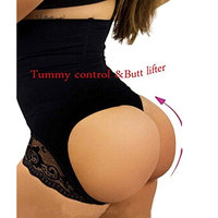 Ursexyly High Waist Butt Lifter Shaper Brief Open Butt with Mini Steel Bone