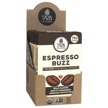 Taza Chocolate | Amaze Bar | Espresso Buzz | 70% Stone Ground | Certified Organic | Non-GMO | 2.5 Ounce