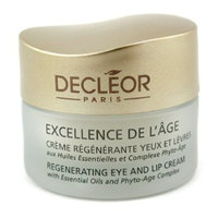 Decleor Excellence De L'age Regenerating Eye and Lip Cream for Unisex, 0.5 Ounce