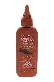 Beautiful Collection Moisturizing Semi-Permanent Color - # B17W Rosewood Brown by Clairol for Unisex - 3 oz Hair Color