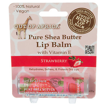 Out Of Africa - 100 Pure Shea Butter Lip Balm Strawberry - 0.25 oz.