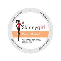 Single Cup Coffee Skinnygirl Peach Bellini Green Tea, Single Serve Cup Portion Pack for Keurig K-Cup Brewers