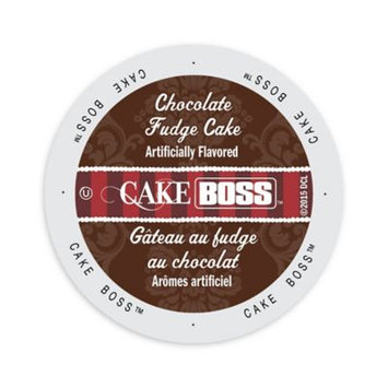 Single Cup Coffee Cake Boss Coffee Chocolate Fudge Cake, Single Serve Cup Portion Pack for Keurig K-Cup Brewers