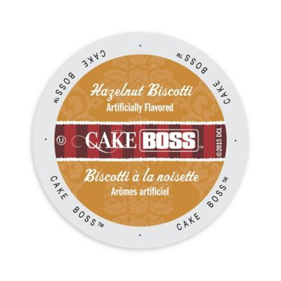 Single Cup Coffee Cake Boss Coffee Hazelnut Biscotti, Single Serve Cup Portion Pack for Keurig K-Cup Brewers