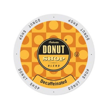 Single Cup Coffee Authentic Donut Shop Blend Decaffeinated, Single-serve Cup Portion Pack for Keurig K-Cup Brewers