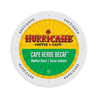 Single Cup Coffee Hurricane Coffee And Tea Cape Verde Decaf, RainforestAlliance, Single Serve Cup Portion Pack for Keurig K-Cup Brewers