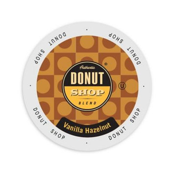 Single Cup Coffee Authentic Donut Shop Blend Vanilla Hazelnut, Single Serve Cup Portion Pack for Keurig K-Cup Brewers