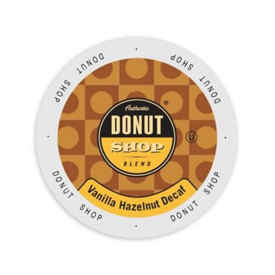 Single Cup Coffee Authentic Donut Shop Blend Vanilla Hazelnut Decaf, Single Serve Cup Portion Pack for Keurig K-Cup Brewers