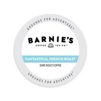 Single Cup Coffee Barnie's Coffee Kitchen French Roast, Rainforest Alliance, Single Serve Cup Portion Pack for Keurig K-Cup Brewers