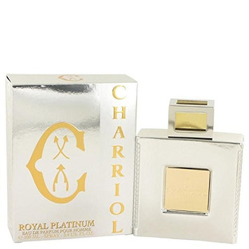 Charriol Royal Platinum by Charriol Eau De Parfum Spray 3.4 oz for Men - 100% Authentic