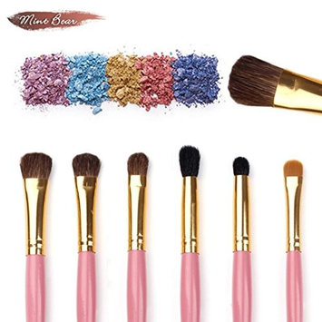 LiPing 7PCS CosmeticMakeup Brush Premium Foundation Brush Tool Eyeliner Lip Cosmetic Brush Eyeshadow Brush Set (Hot pink)