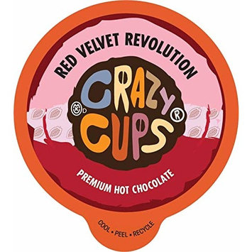 Crazy Cups, Red Velvet Revolution Premium Hot Chocolate Single Serve Cups for Keurig K-Cup Brewers, 22 count